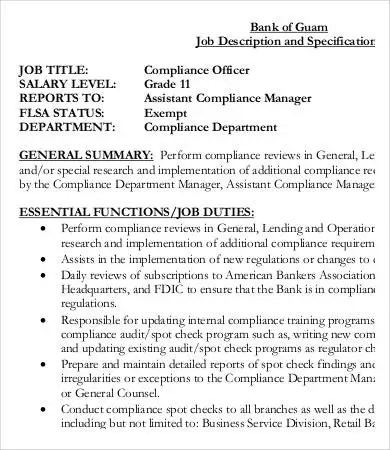 Assistant Compliance Officer Sample Resume Top 8 Assistant