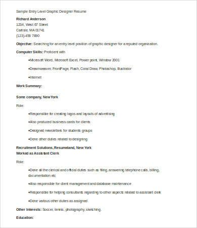 9+ Designer Resumes - Free Sample, Example, Format Free  Premium - database designer resume