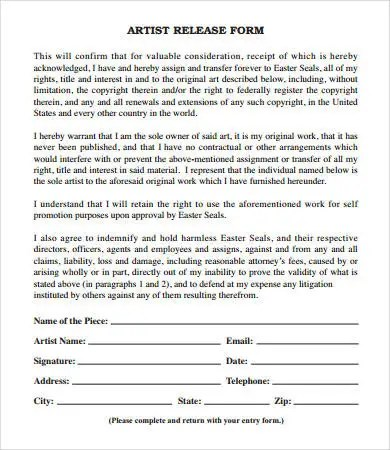 Release Form template - 10+ Free PDF Documents Download Free - release of interest form