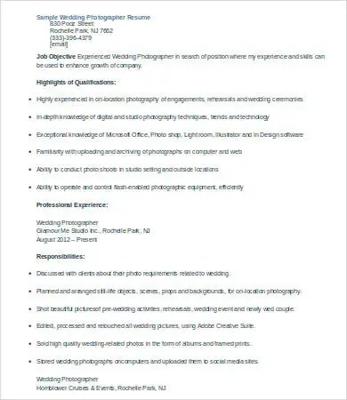 10+ Photographer Resume Templates - PDF, DOC Free  Premium Templates