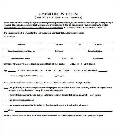 Release Form template - 10+ Free PDF Documents Download Free - contract release form
