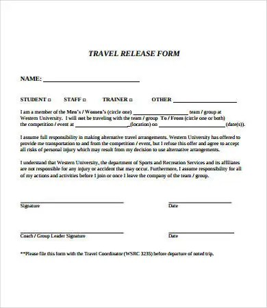 Release Form template - 10+ Free PDF Documents Download Free - accident release form