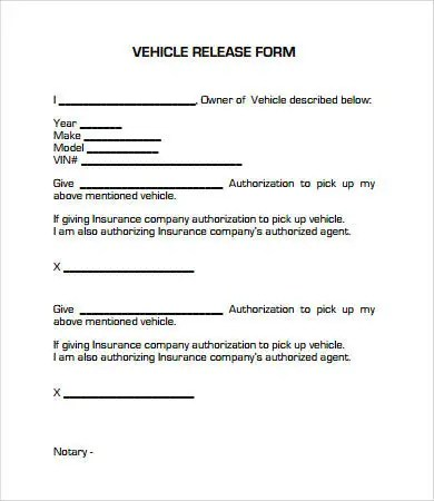 Release Form template - 10+ Free PDF Documents Download Free