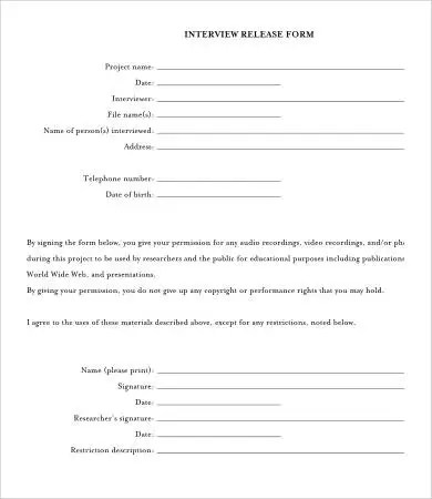Release Form Template - 10+ Free Sample, Example, Format Free