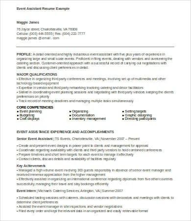 6+ Event Planner Resume Templates - PDF, DOC Free  Premium Templates