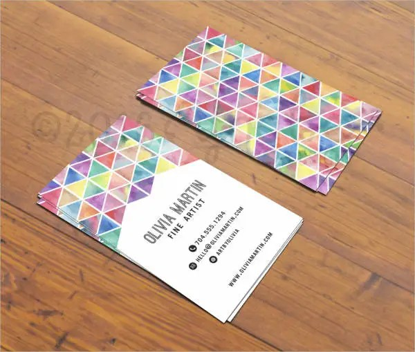 Artists Business Cards - 9+ Free PSD, Vector AI, EPS Format Downlaod