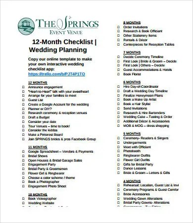 Wedding Day Timeline - 7+ Free PDF Documents Download Free - wedding timeline