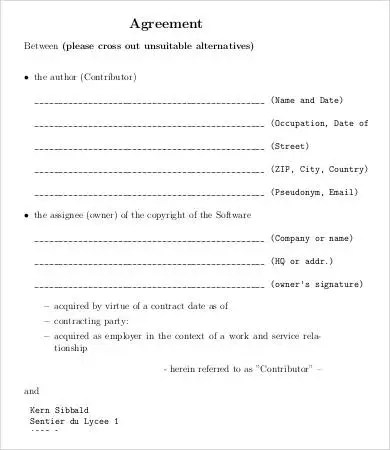 Assignment Agreement Template - 9+ Free Word, PDF Format Download - assignment of contract