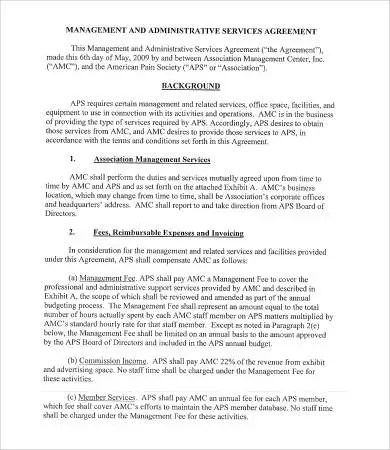 Administrative Services Agreement Template - 9+ Free Sample - business service agreement