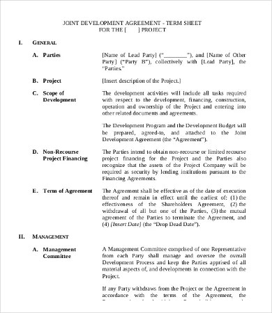 Development Contract Templates Website Development Development