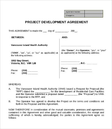 Development Agreement Template - 9+ Free Word, Excel, PDF Format - development agreement contract