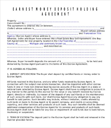 Money Agreement Template - 16+Free PDF Documents Download Free - money contract template