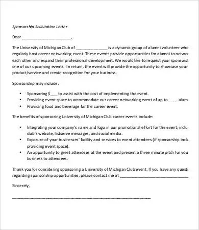 Solicitation Letter Template - 7+ Free PDF Format Download Free