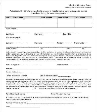 Consent Form Template - 9+Free Word, PDF Documents Download Free - parent consent forms