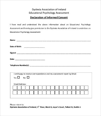 Consent Form Template - 9+Free Word, PDF Documents Download Free