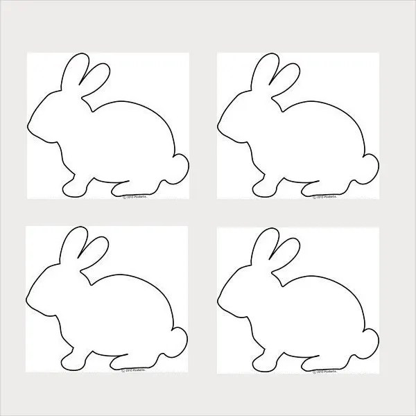 9+ Bunny Template - Free jpg, PDF Document Download Free  Premium