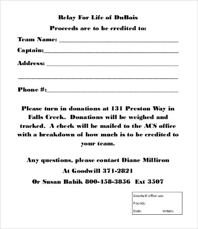 Donation Form Template - 8+Free Word, PDF Documents Download Free - Donation Form Templates