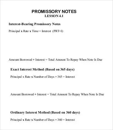 Sample Promissory Note Template - 10+ Free Sample, Example, Format
