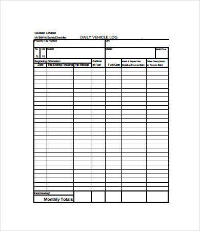 Vehicle Maintenance Log - 7+ Free PDF, Excel Documents Download