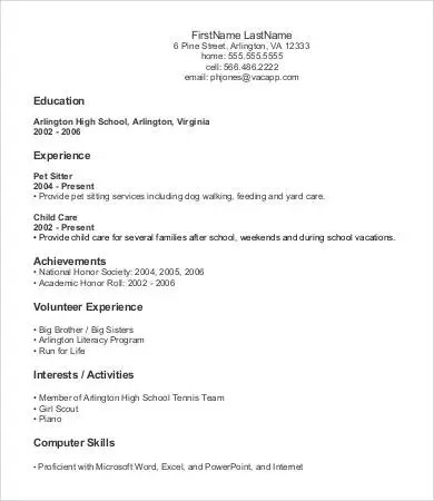 9+ Entry Level Resume Templates - PDF, DOC Free  Premium Templates - Entry Level Resumes Templates