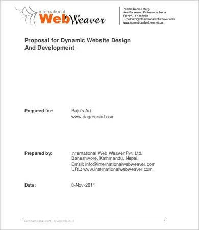 9+ Website Design Proposal Templates - Word, PDF, Pages Free