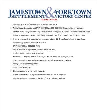 Printable Checklist Template - 8+ Free Word, PDF Documents Download - printable checklist template