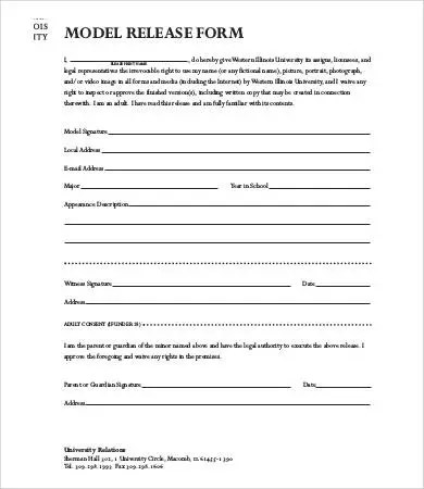 Model Release Form Template - 8+ Free Sample, Example, Format Free