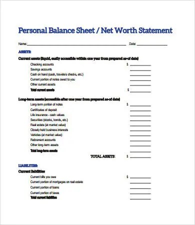 Balance Sheet Format - 15+ Free PDF Documents Download Free