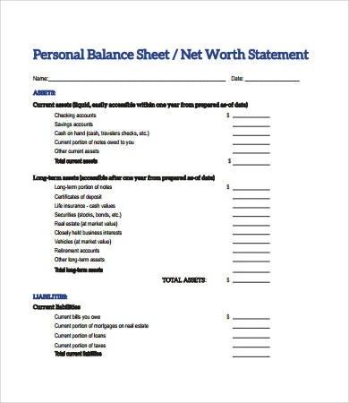 Balance Sheet Format - 15+ Free PDF Documents Download Free - balance sheets format