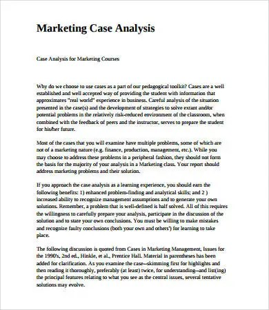 case analysis format - Dolapmagnetband - analysis report format