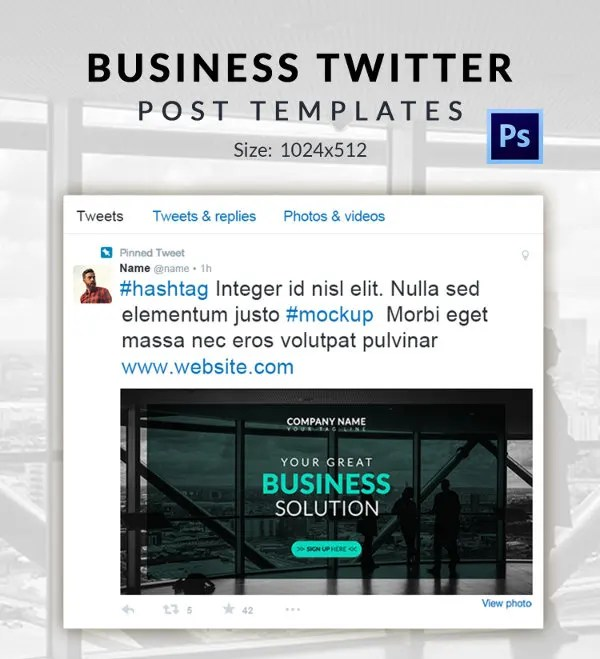 10+ Free Twitter Post Templates - Business, Fashion, Marketing - twitter template