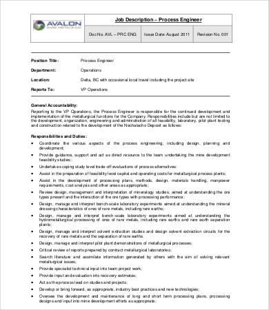 10+ Sample Engineer Job Description Templates - PDF, DOC Free