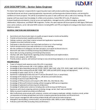 10+ Sample Engineer Job Description Templates - PDF, DOC Free - network engineer job description