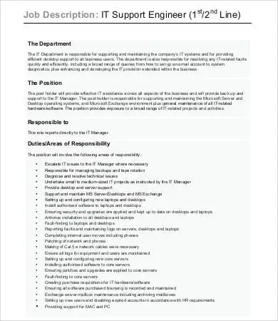 10+ Sample Engineer Job Description Templates - PDF, DOC Free