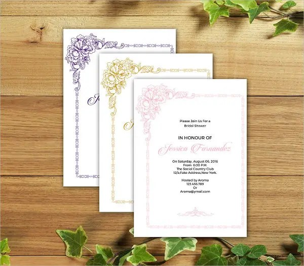 11+ Bridal Shower Invitation Templates Free  Premium Templates - Free Printable Wedding Shower Invitations Templates