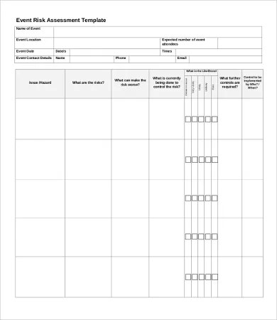 100 risk assessment template for events ukcca venuestudy free risk assessment template cvletter csat co pronofoot35fo Image collections