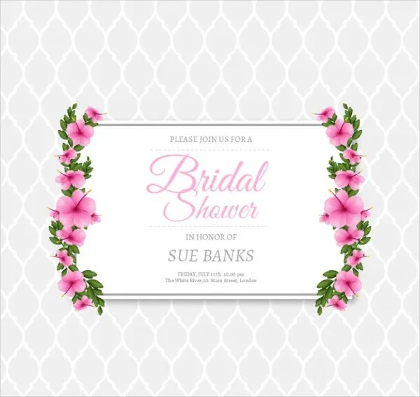 11+ Bridal Shower Invitation Templates Free  Premium Templates - bridal shower invitation templates