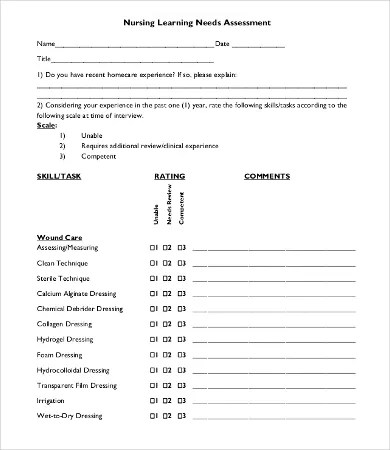 Nursing Assessment Template - 8+ Free Word, PDF Documents Download
