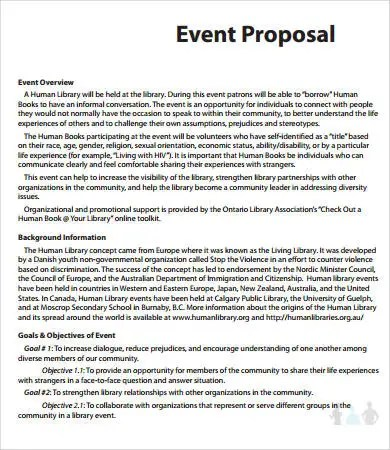 15+ Printable Event Proposal Templates - Word, PDF, Pages Free
