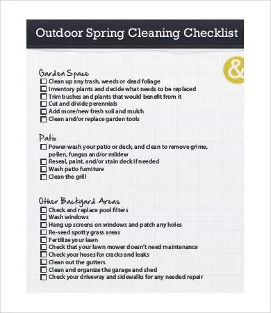 Spring Cleaning List - 9+ Free Word, PDF Documents Download Free - spring cleaning checklist