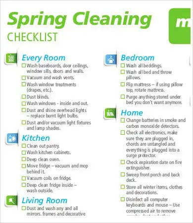 Spring Cleaning List - 9+ Free Word, PDF Documents Download Free
