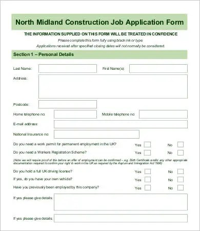 Employee Application Form - 9+ Free Word, PDF Documents Download - Employee Application