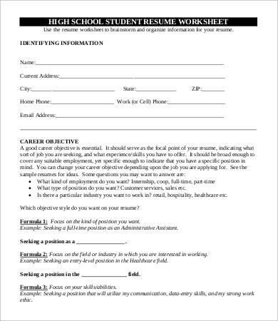 10+ High School Graduate Resume Templates - PDF, DOC Free - recent high school graduate resume