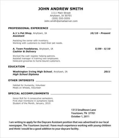 10+ High School Graduate Resume Templates - PDF, DOC Free - images of resumes