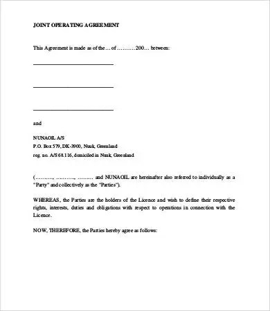 Operating Agreement Template - 11+ Free Word, PDF, Google Docs