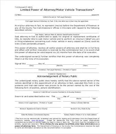 General Power of Attorney Form - 9+ Free Word, PDF Documents - sample limited power of attorney form