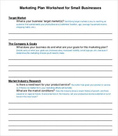 Small Business Plan Template -9+ Free Sample, Example, Format Free - small business plan