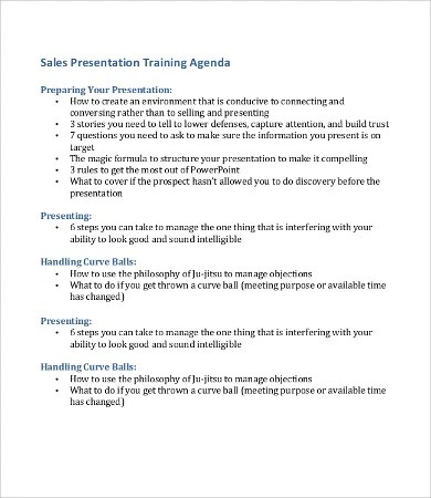 Presentation Agenda Templates - 6+ Free Word, Excel, PDF Format