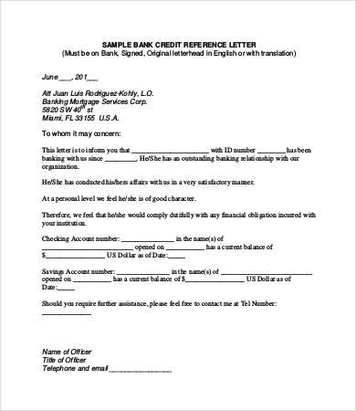 Bank Reference Letter  NodeCvresumePaasproviderCom