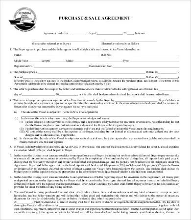 Sales Agreement - 15+ Free Word, PDF Documents Download Free